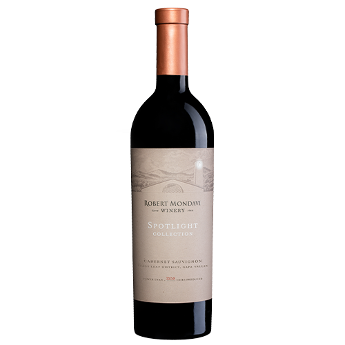 A bottle of 2017 Robert Mondavi Winery Cabernet Sauvignon Stags Leap District on a white background.