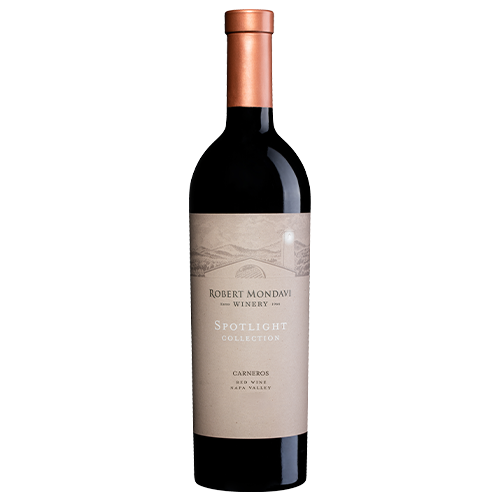 A bottle of 2015 Robert Mondavi Winery Red Blend Carneros Napa Valley on a white background.