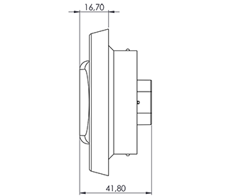 Oval-Stop-Tail-Turn-Backup-LED-drawing-views_Red side view