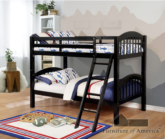 Coney Island Black Twin/Twin Bunk Bed image