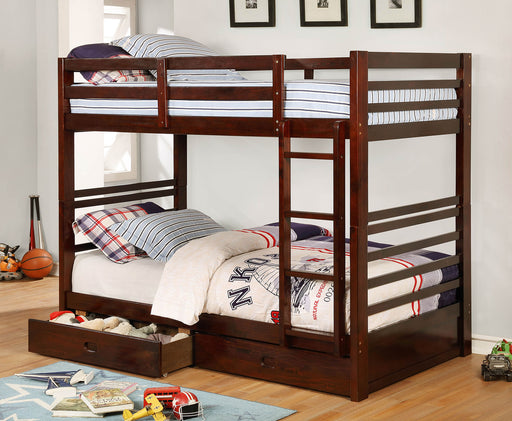 California IV Dark Walnut Twin/Twin Bunk Bed image