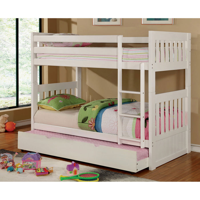 CANBERRA II White Twin/Twin Bunk Bed image