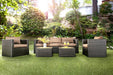 OLINA Brown/Espresso 5 Pc. Patio Set image