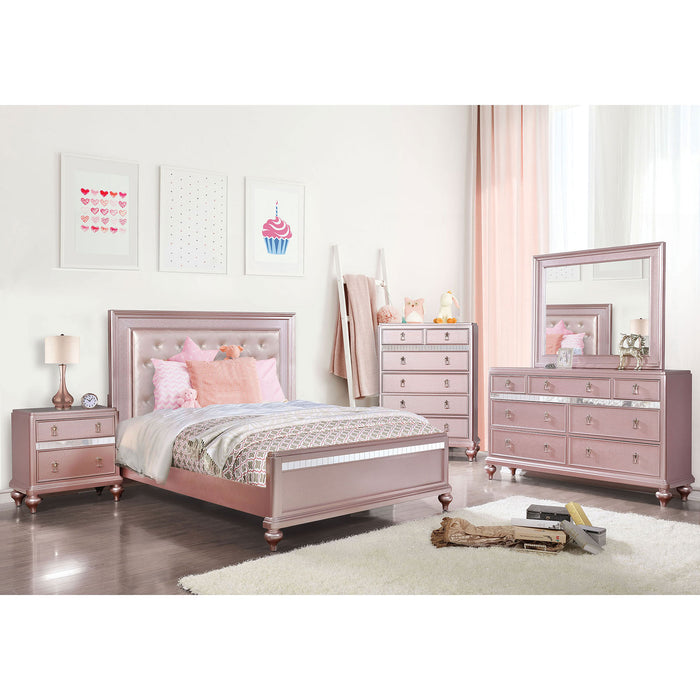 Ariston Rose Pink 4 Pc. Full Bedroom Set image