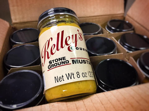 12  Jar case Case of  Kelley's Gourmet Stone Ground Mustard - 1 Case 12 Jars