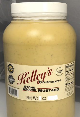 Gallon Kelley's Gourmet Stone Ground Mustard 4-1 Gallon Food Service