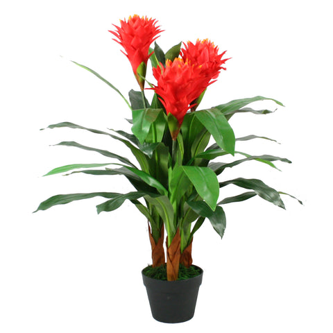 Artificial Bromeliad Plant 3 ft