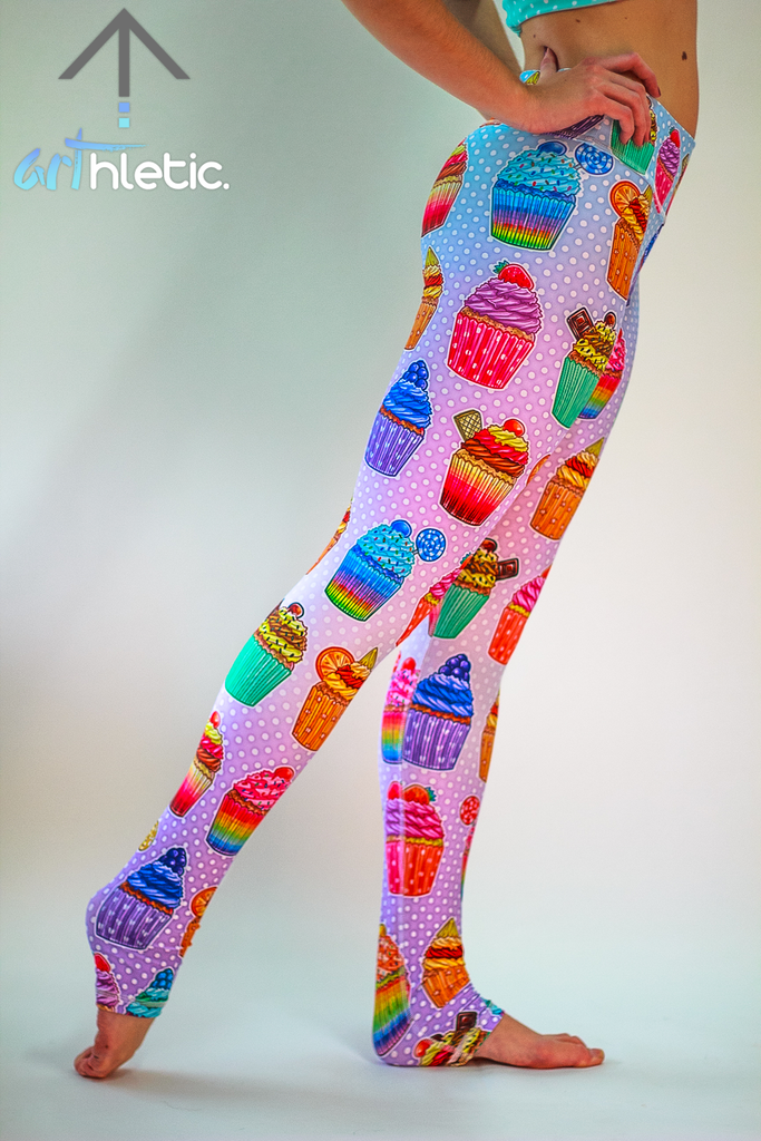 Cupcakes Leggings - Arthletic Wear - 1