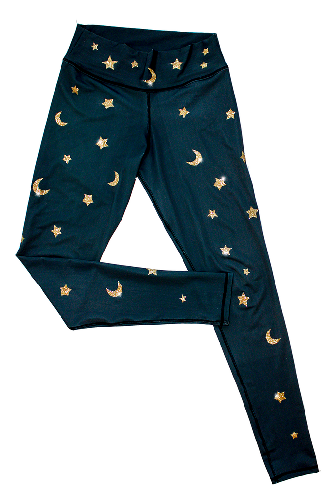 Glitter Magic Leggings by arthletic-wear.myshopify.com I Leggings - Solids I