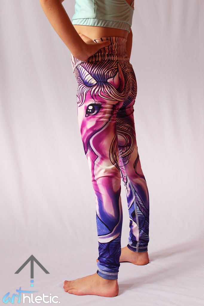 Unicorn Mini Leggings - Arthletic Wear - 1