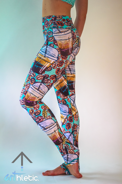 Coffee Addict Leggings - Arthletic Wear - 1