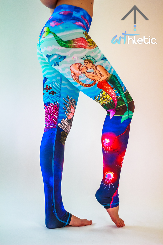 Under the Sea Leggings - Arthletic Wear - 1