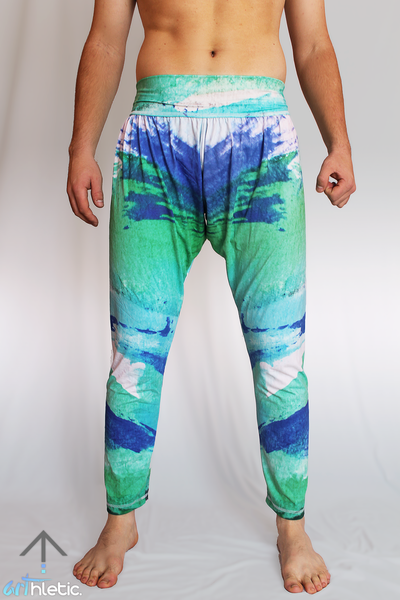Azure Splash Men's Harem Pants - Arthletic Wear - 1