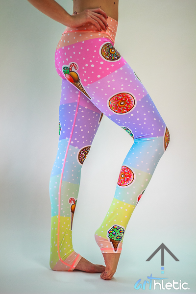 Ice Cream & Donuts Leggings - Arthletic Wear - 1