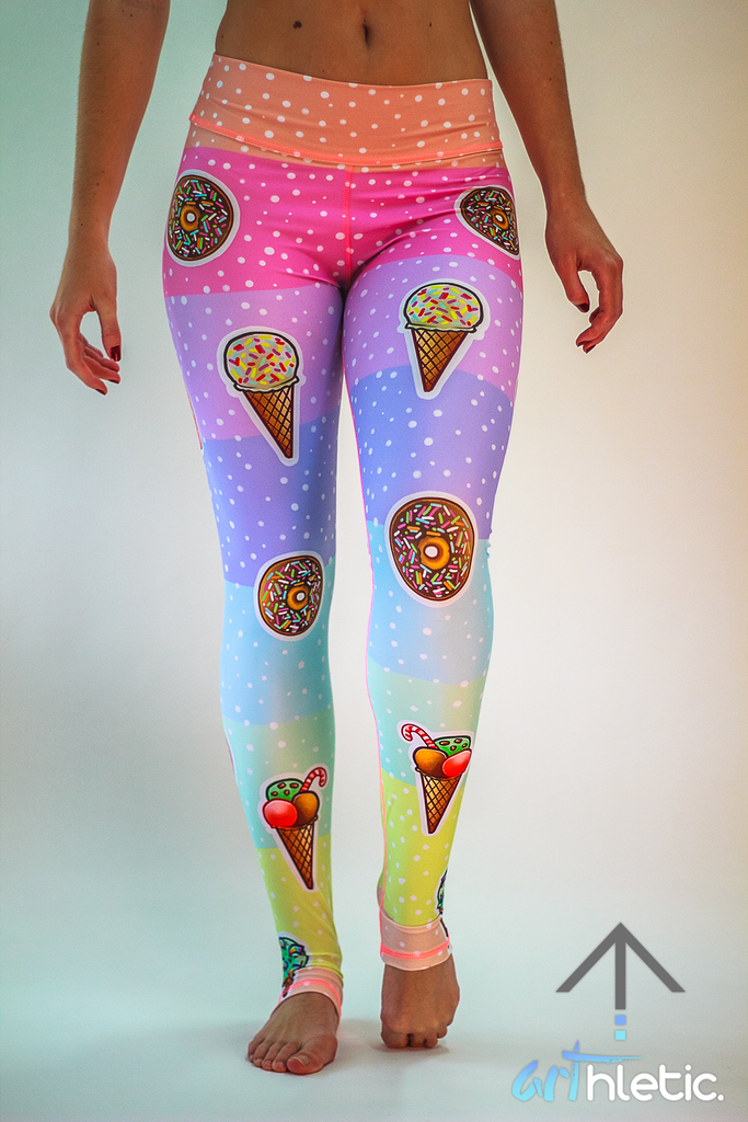 Ice Cream & Donuts Leggings - Arthletic Wear
