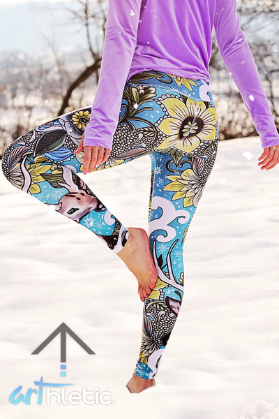 Winter Wonderland Leggings - Arthletic Wear - 1