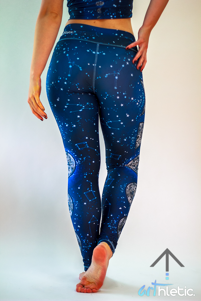 Night Sky Leggings - Arthletic Wear