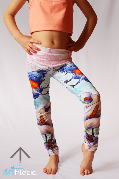 Calla Lily mini leggings - Arthletic Wear - 1