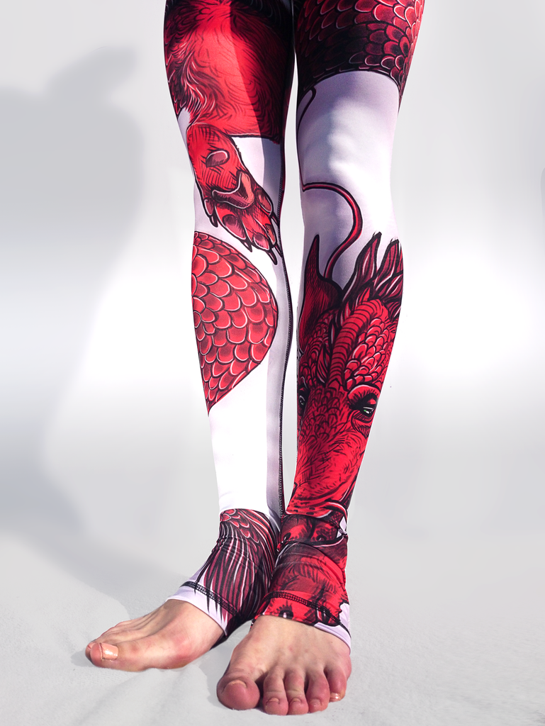Dragon Leggings - Arthletic Wear