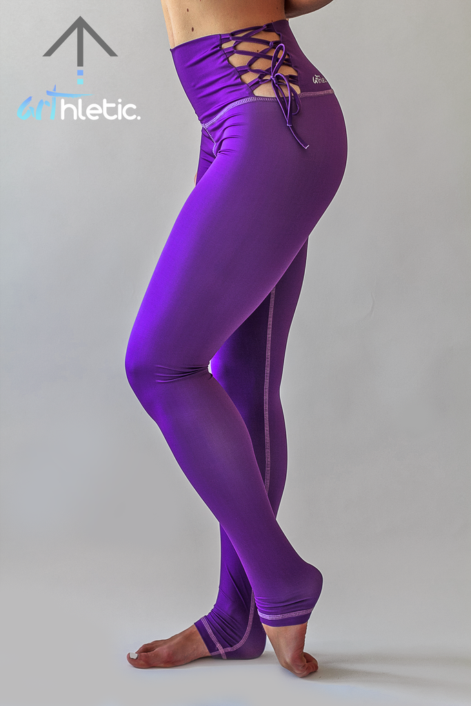 Lena Leggings- Violet Purple by arthletic-wear.myshopify.com I Leggings - Solids I