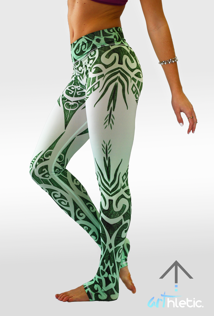 Emerald Goddess Leggings (FINAL SALE) - Arthletic Wear