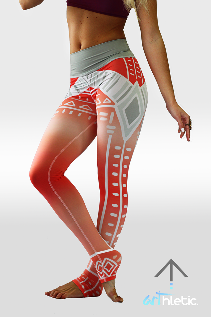 Peach Sundae leggings - Arthletic Wear - 2