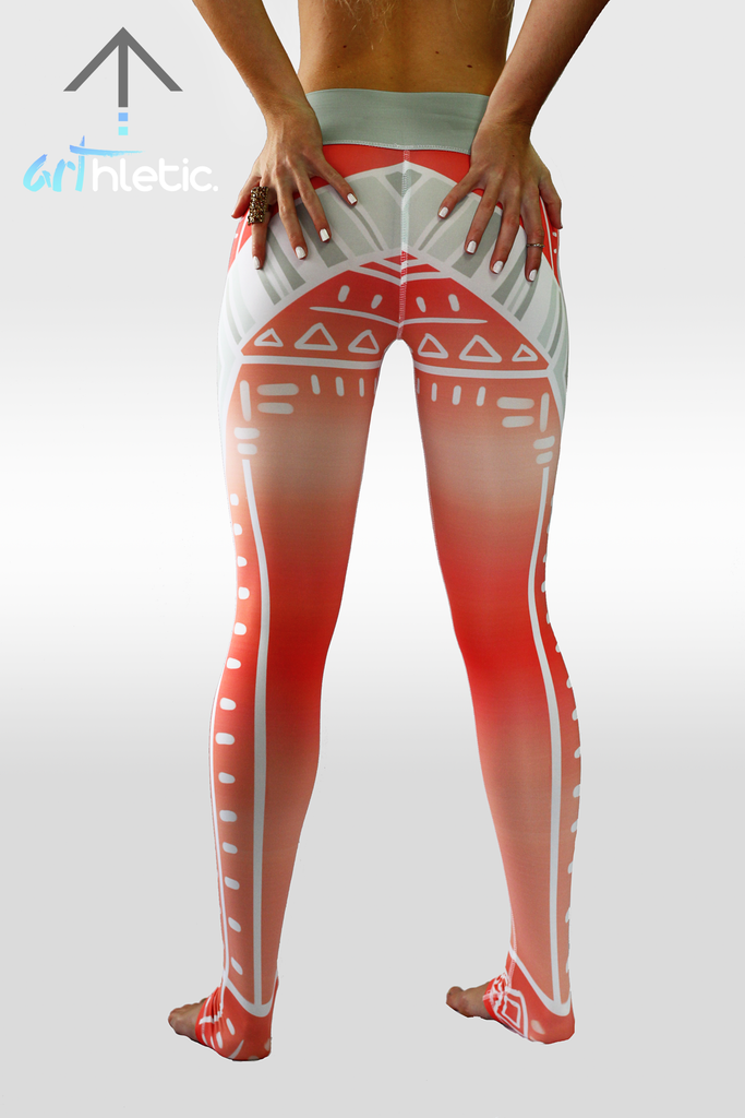 Peach Sundae leggings - Arthletic Wear - 3