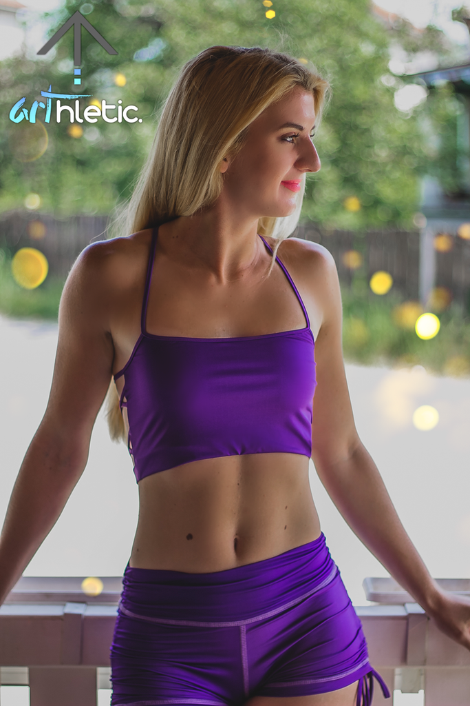Talia top- Violet Purple by arthletic-wear.myshopify.com I Sports Bras I