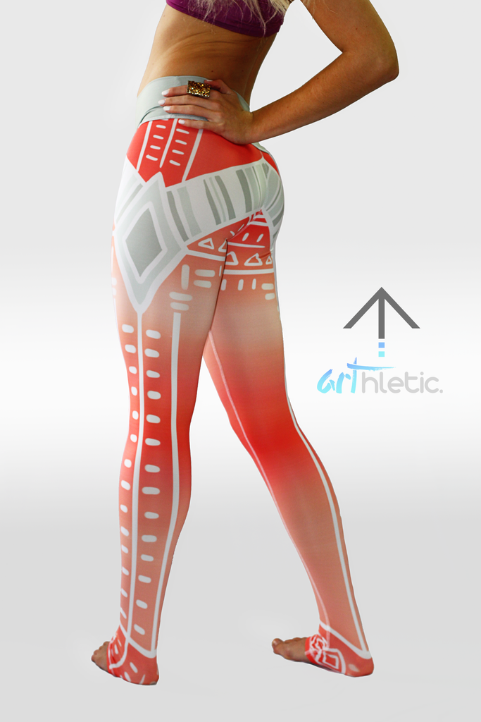 Peach Sundae leggings - Arthletic Wear - 4
