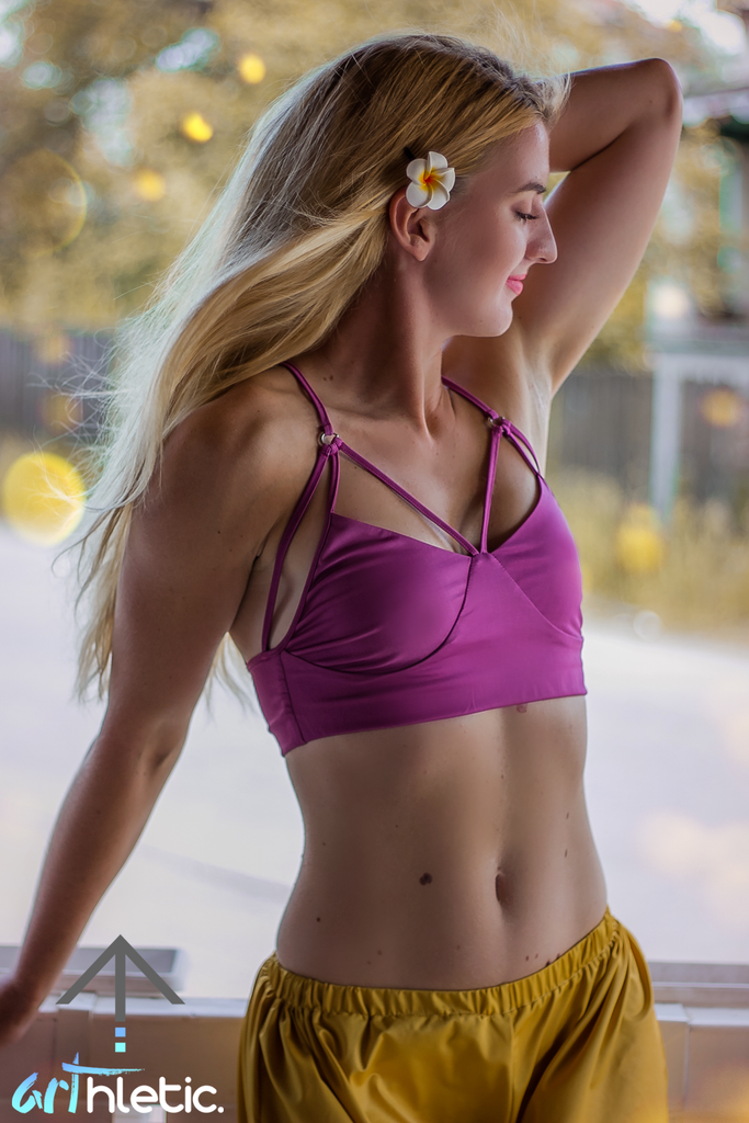 Dayana top- Raspberry Rose by arthletic-wear.myshopify.com I Sports Bras I