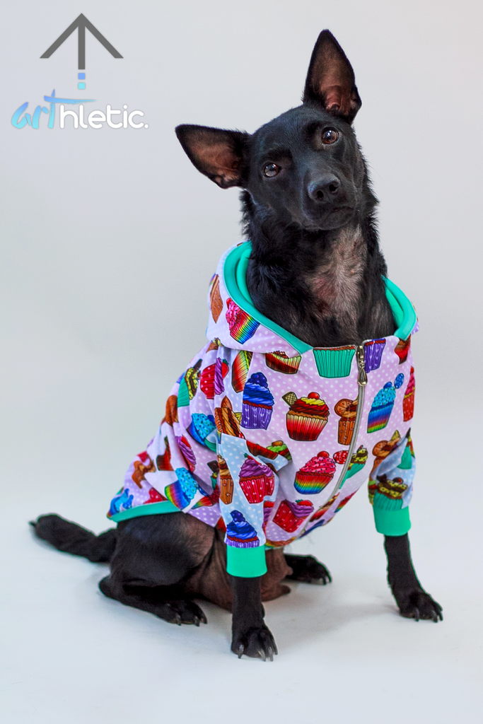 Cupcakes Pet Hoodie - Arthletic Wear