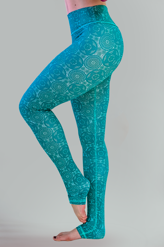 Daphne Leggings - Caribbean Blue - Arthletic Wear