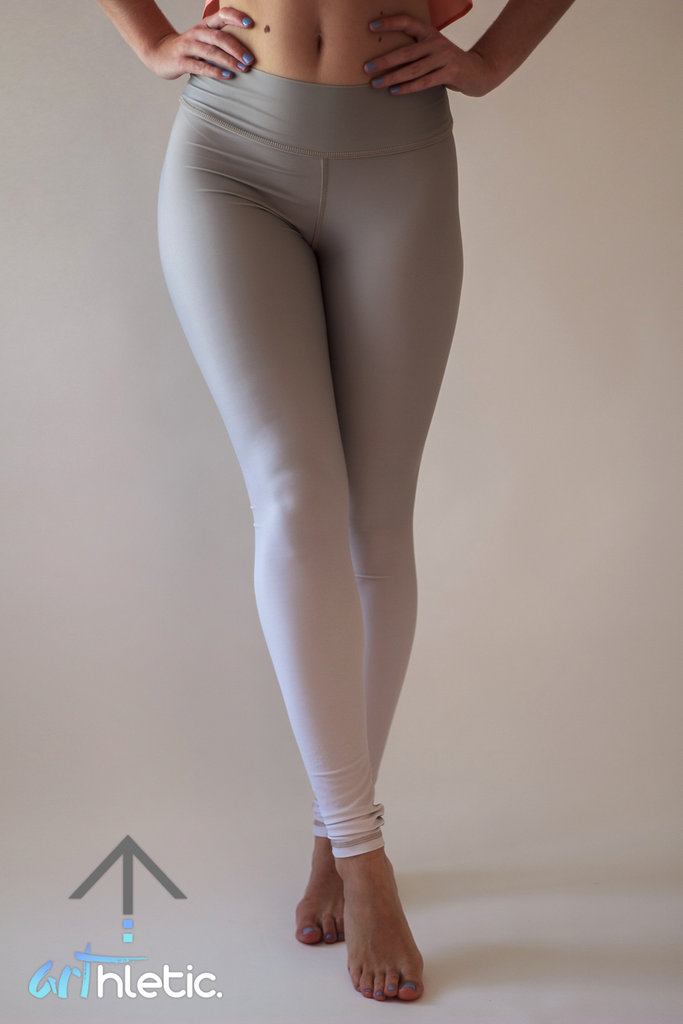 Greige Leggings - Arthletic Wear
