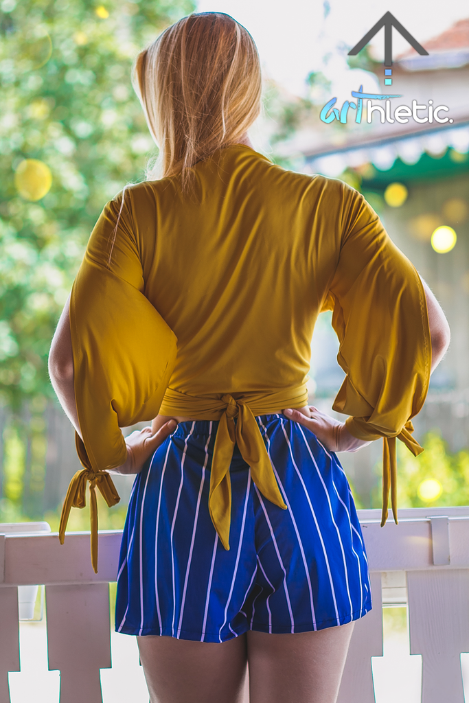 Marigold Open Sleeve Blouse by arthletic-wear.myshopify.com I Long Sleeve Top I