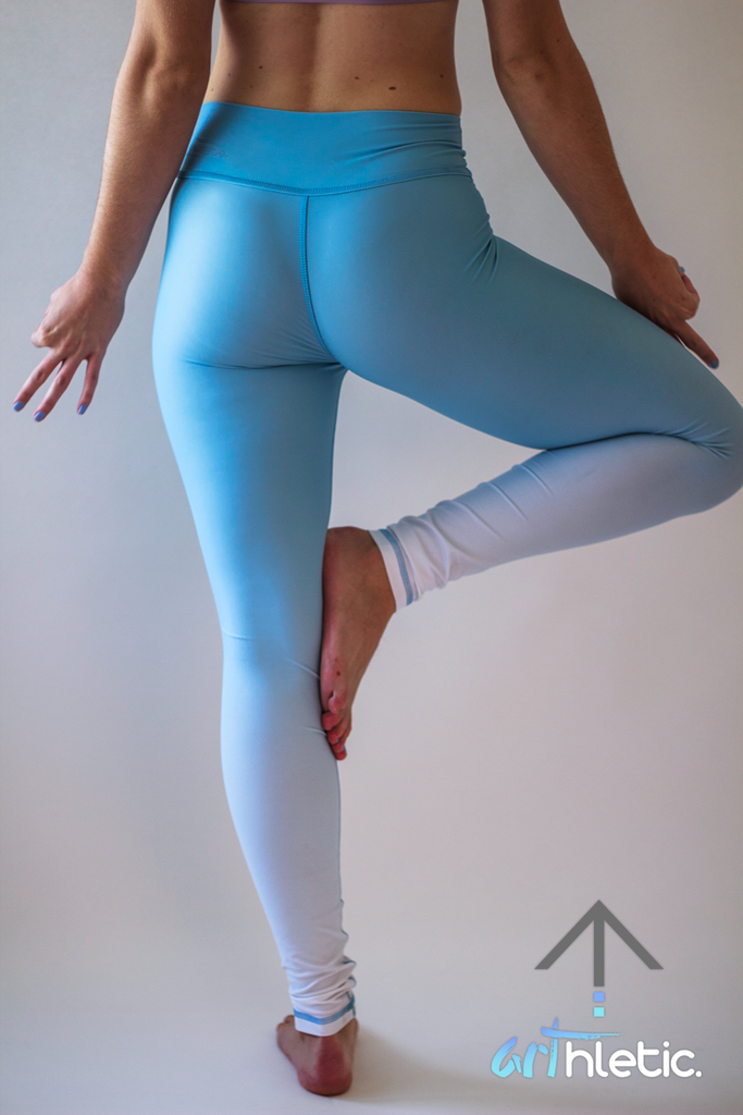 Sky Blue Leggings by arthletic-wear.myshopify.com I Leggings - Solids I