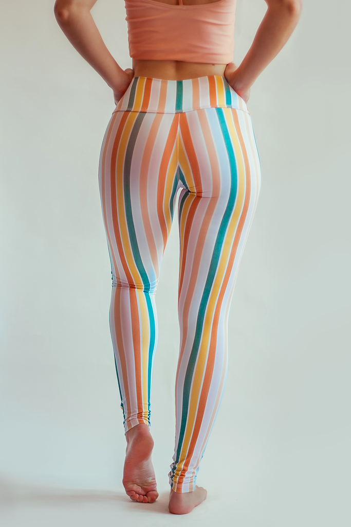 Candy Stripe Leggings - Arthletic Wear
