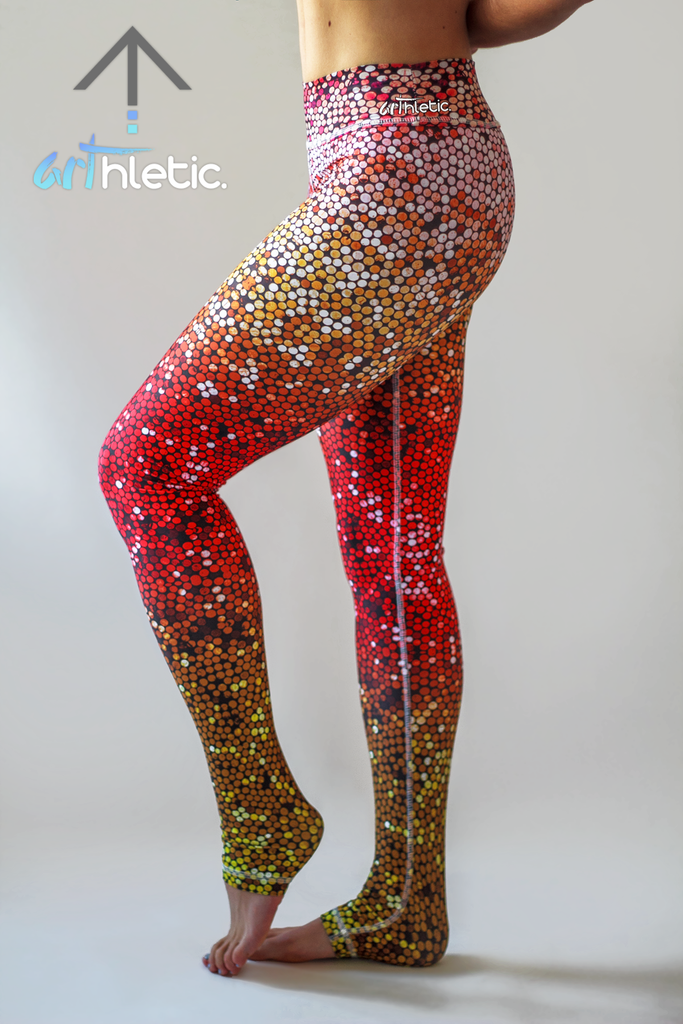 Fire Mermaid Leggings (FINAL SALE) - Arthletic Wear