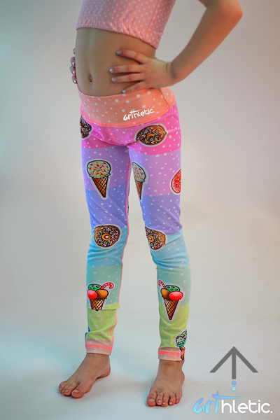 Ice cream & Donuts Mini Leggings