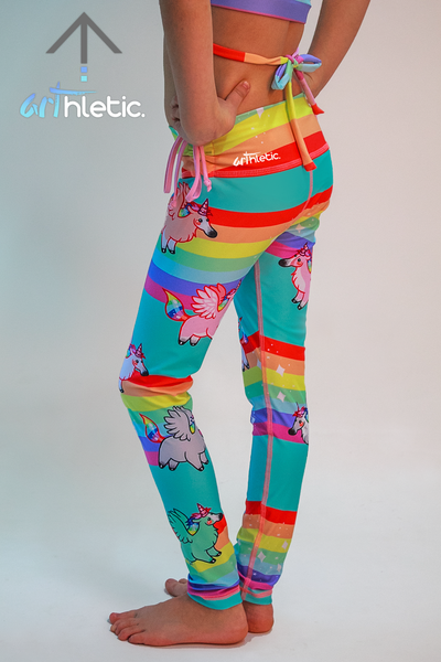 Rainbows & Unicorns Mini Leggings (size 1)