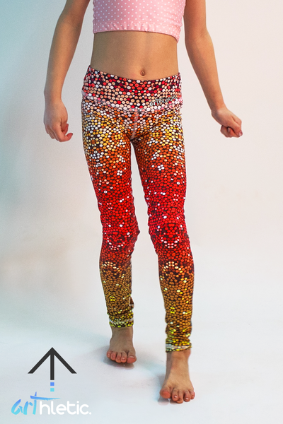 Fire Mermaid Mini Leggings