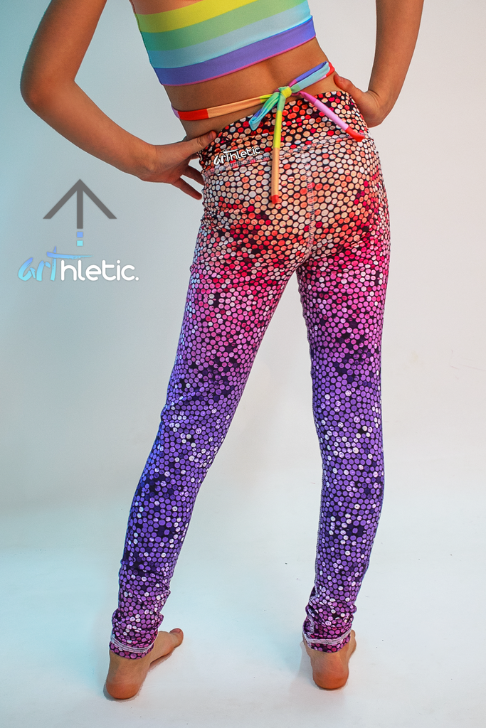 Rainbow Mermaid Mini Leggings by arthletic-wear.myshopify.com I Leggings I
