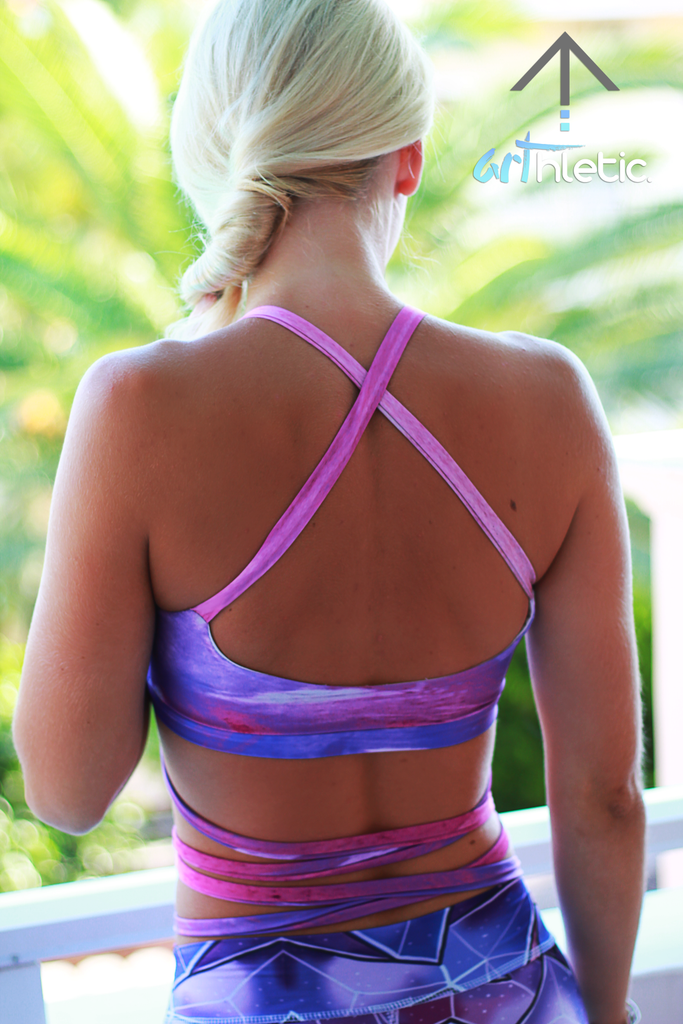 Purple Splash Top (XS) - Arthletic Wear