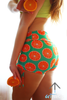 Orange Sundae shorts - Arthletic Wear - 1