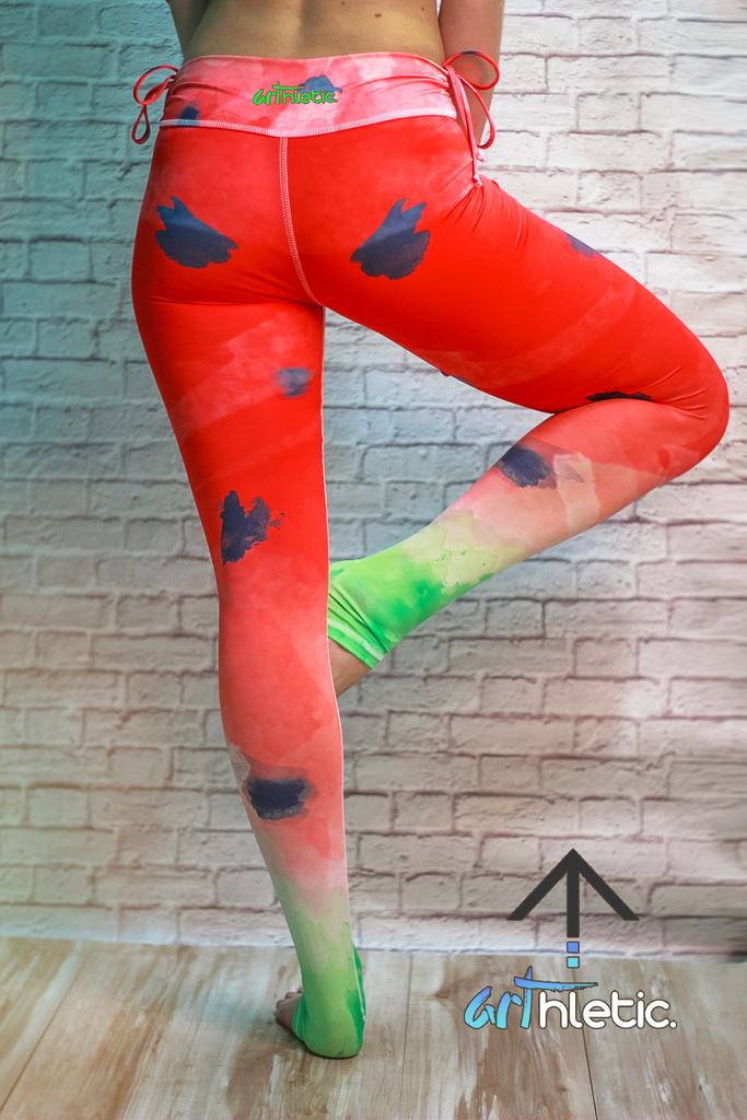 Watermelon Leggings by arthletic-wear.myshopify.com I Leggings I