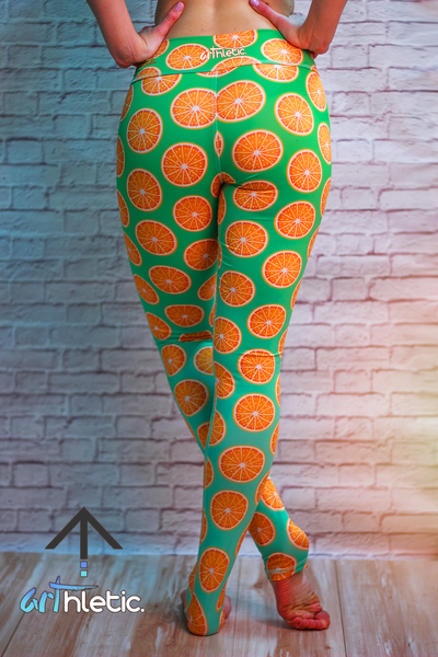 Orange Sundae Leggings (M, L)