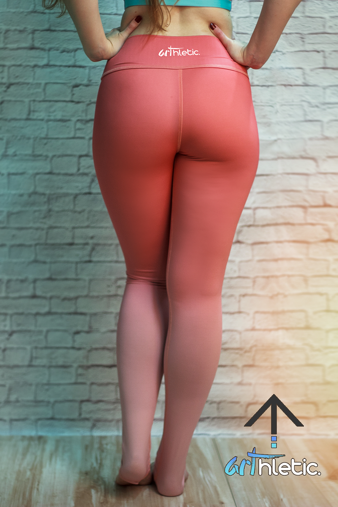 Dusty Rose Leggings - Arthletic Wear