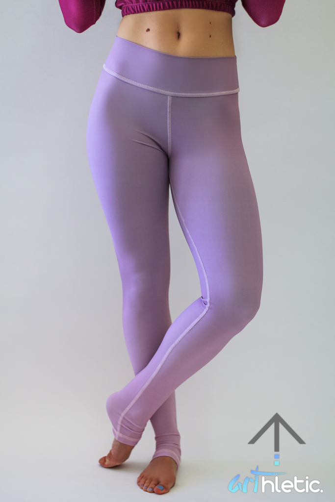 Lavender Leggings by arthletic-wear.myshopify.com I Leggings - Solids I