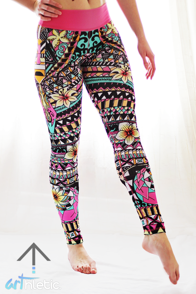 Aloha Leggings - Arthletic Wear - 1