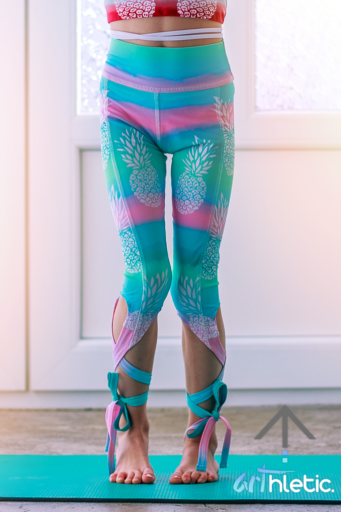 Piña Colada Mini Ballerina Capris by arthletic-wear.myshopify.com I Leggings I