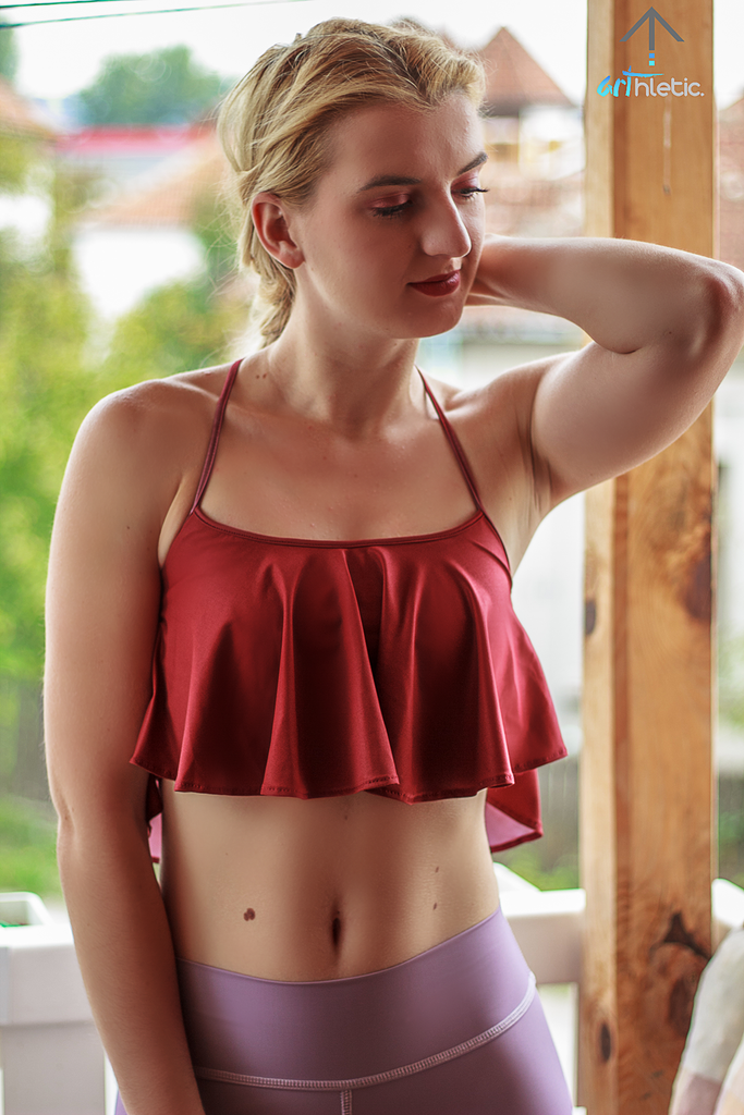 Liberty Top- Brick Red (XS, S) - Arthletic Wear